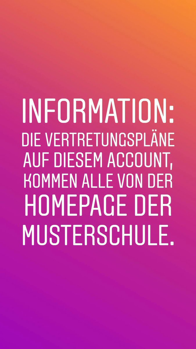 Vertretungsplan Musterschule On Twitter Informationen Zu Den