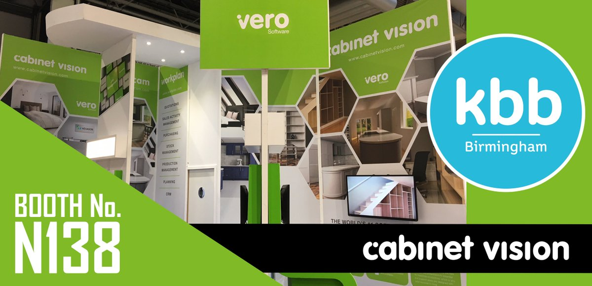 WE ARE UP AND RUNNING - Join the @CabinetVision  and @verosoftware teams at KBB (booth N138) to see how to turn your ideas into reality. #kbb2018