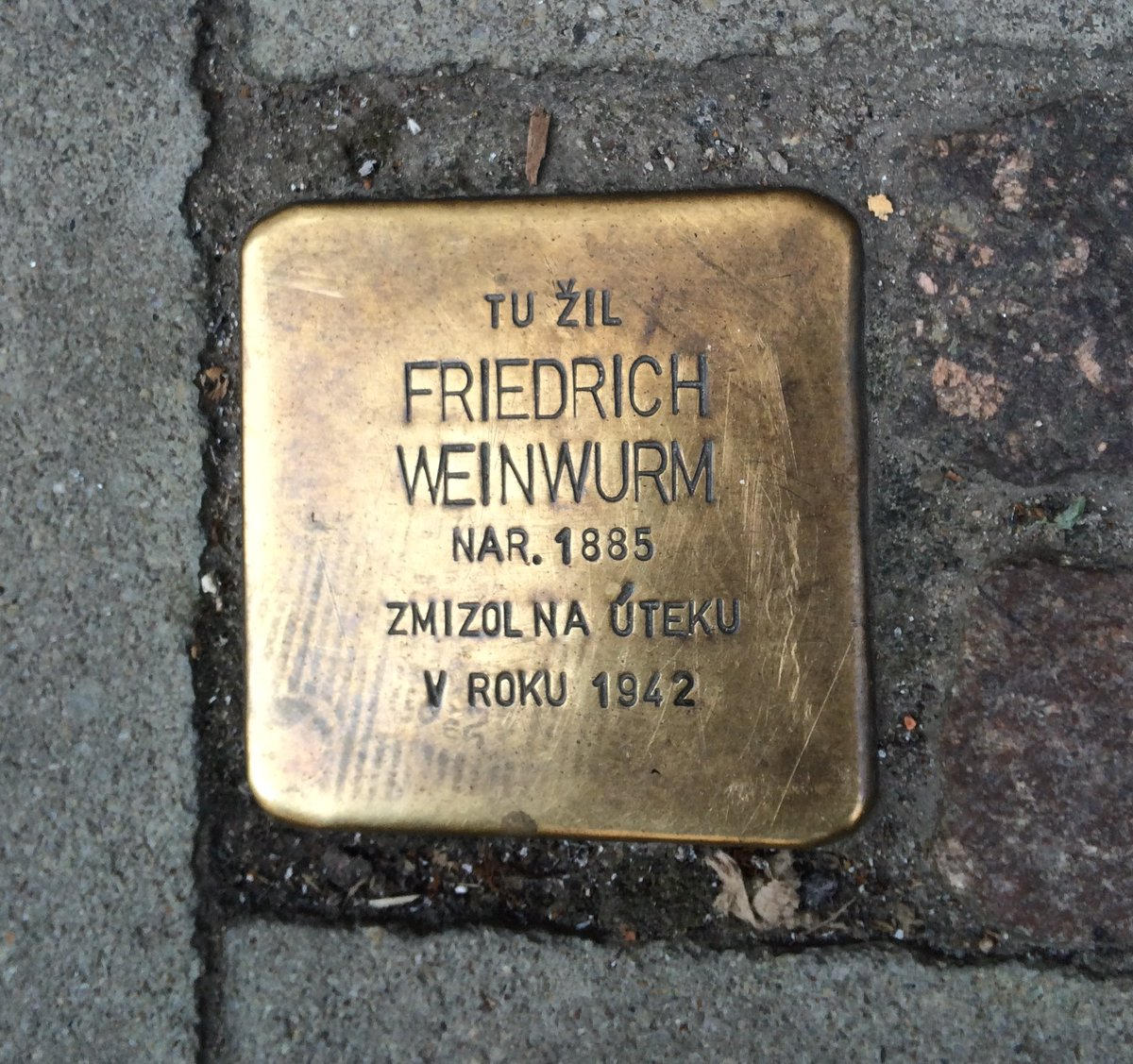 """Glad to see Friedrich Weinwurm remembered at @sng_gallery in #Bratislava, #Slovakia. A groundbreaking architect whose life & career was cut short by the anti-semitism of WWII.  I lived in a Weinwurm building and often paused at his """"stolperstein"""" downtown. spectator.sme.sk/c/20773119/an-…"""