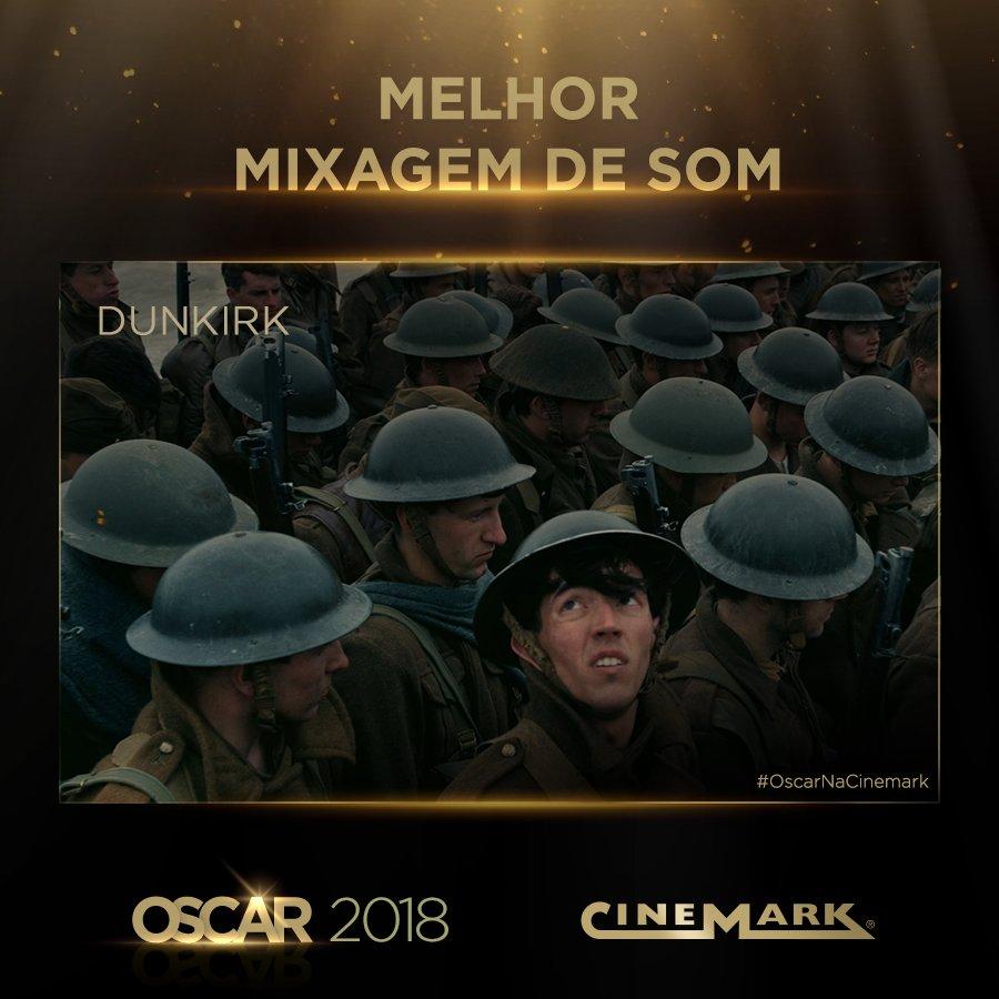 Melhor Mixagem de Som - Dunkirk