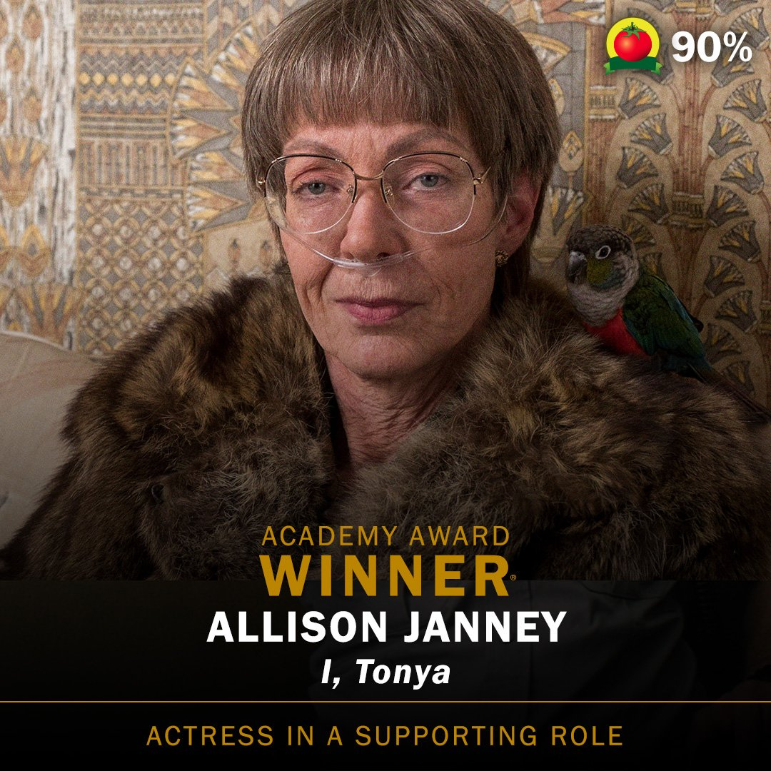 Allison Janney wins the Academy Award for Actress in a Supporting Role #ITonya (90%🍅) #Oscars