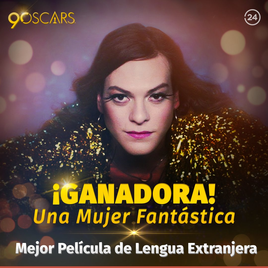 ¡Chile se queda con el Oscar! 🇨🇱👏👏👏👏 Espectacular triunfo de #UnaMujerFantástica como mejor película extranjera ➡ https://t.co/TBkNY6StqB
