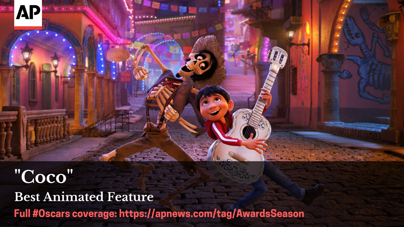 """""""Coco"""" wins best animated feature #Oscars  Full awards season coverage: https://t.co/WvcGBK2hrC https://t.co/BAJqBRSF4w"""