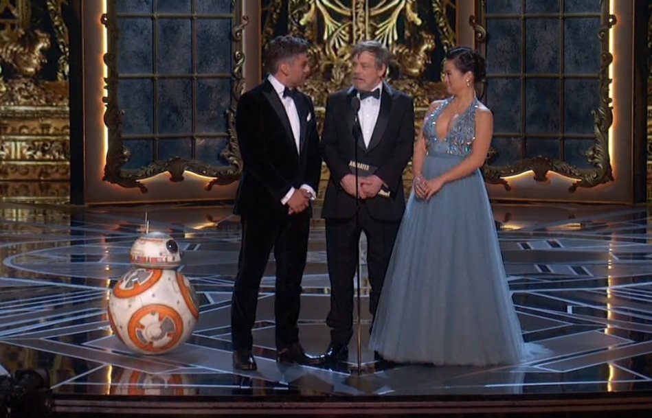 May the force be with you. #Oscars #StarWars