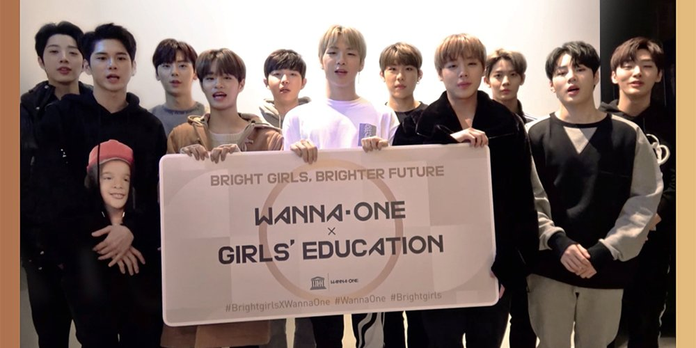 Wanna One join forces with UNESCO to help girls all around the world get education https://t.co/gkbVPFcaYl