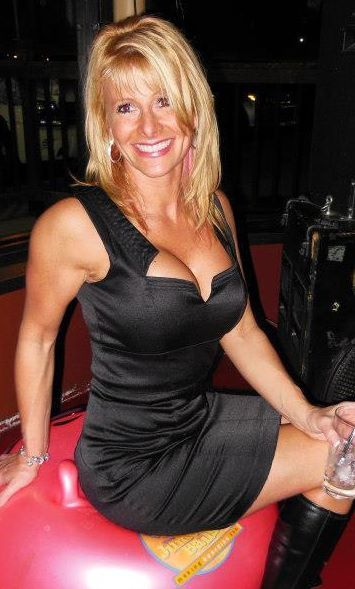 Blonde milf sexy dress