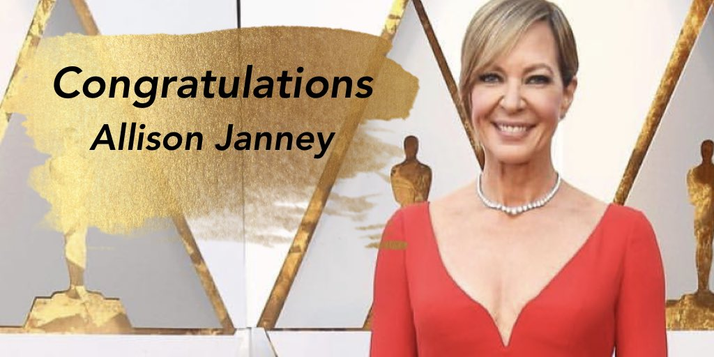 Congratulations to @MomCBS star @AllisonBJanney on her #Oscars win for Best Supporting Actress for #Itonya