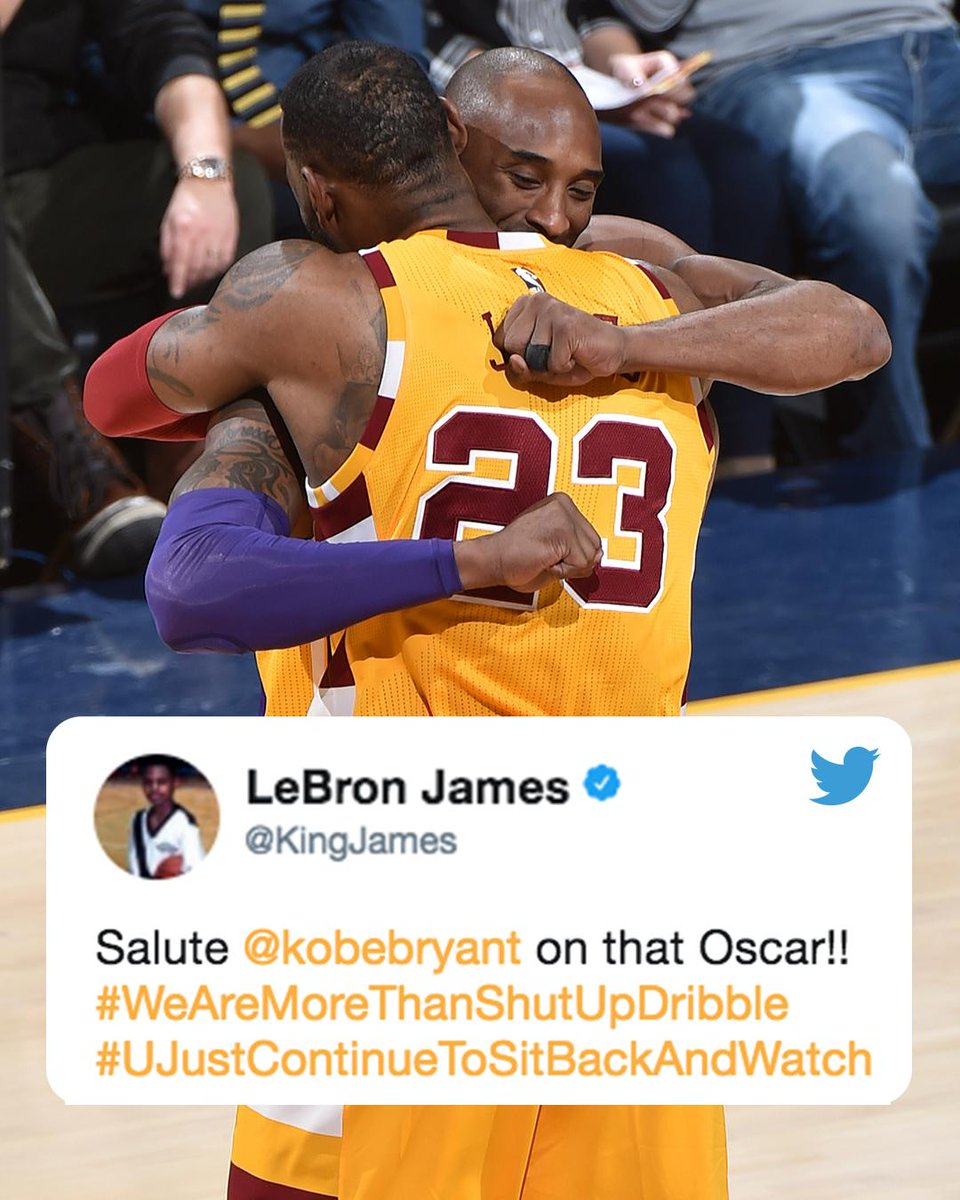 Respect from @KingJames.