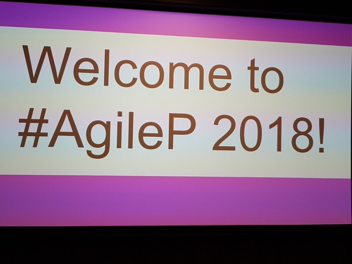 People starting to arrive. #AgileP