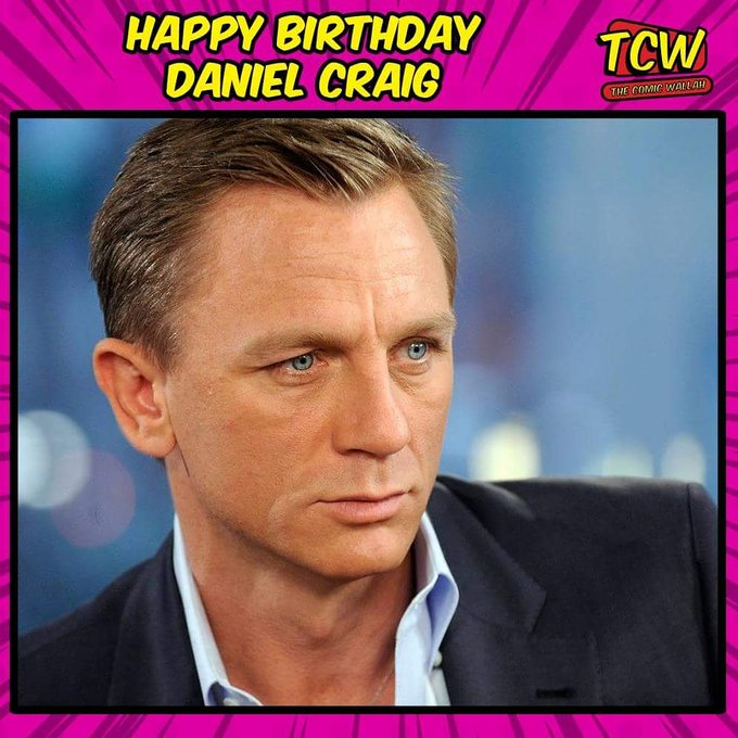 Wishing the James Bond of Hollywood, Daniel Craig a very happy birthday.