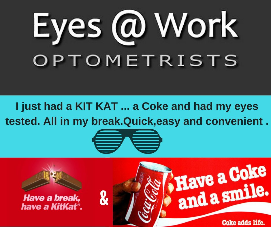 d1a7968ecfb ... test your eyes with us and get specs. Have a break! Get some specs with  us weekdays.  haveabreak  freecoke kitkat  eyes workpic.twitter .com 5bMpP4zHIT