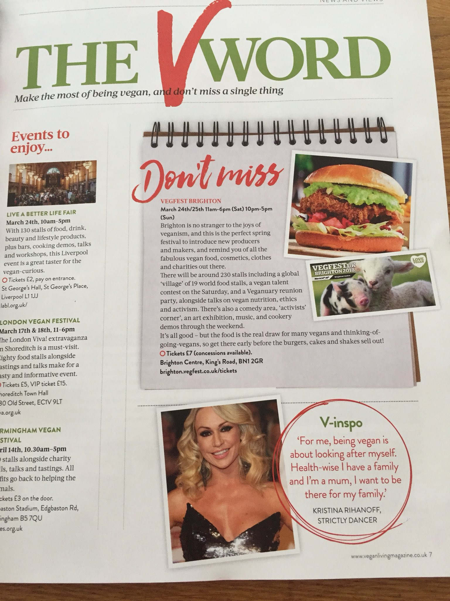 Didn't expect to see myself in @VeganLivingMag as V-inspiration 😊 thank you ! I love your mag !! https://t.co/5rsQv8GxvH