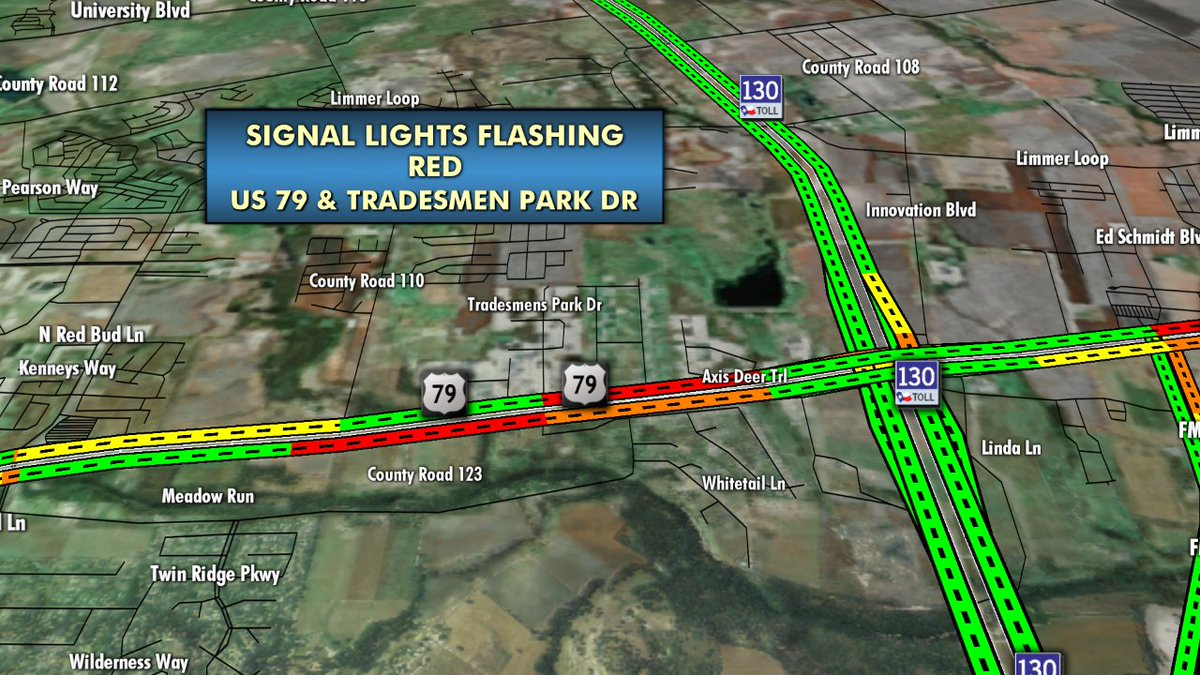 Kxan Traffic Map.Kxan News On Twitter Huttotraffic New Signal Light Flashing Red