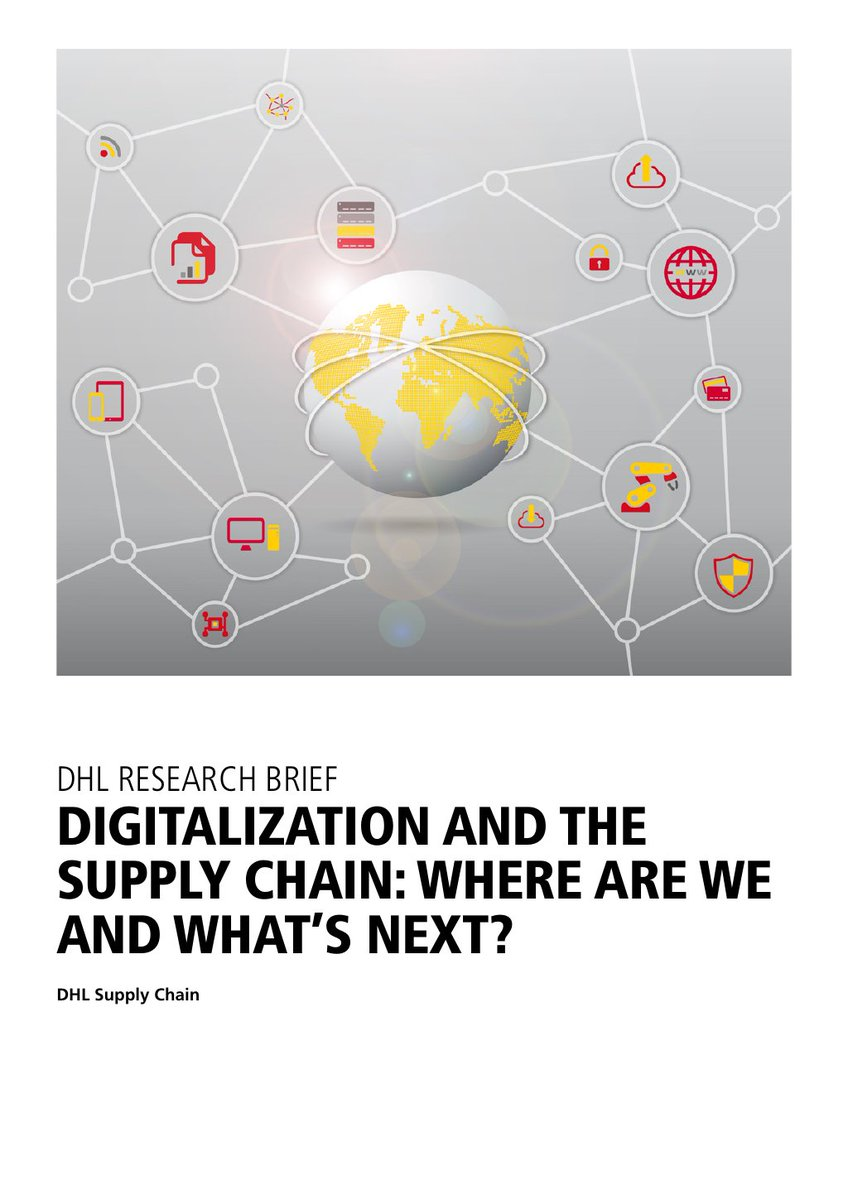 Unser Partner @DeutschePostDHL hat heute neue Ergebnisse zur #Digitalisierung in der #Lieferkette veröffentlicht. Eine Erkenntnis: Neue Technologien entwickeln sich so rasant, dass Schritthalten für Unternehmen schwierig ist. @DHLsupplychain #Logistik