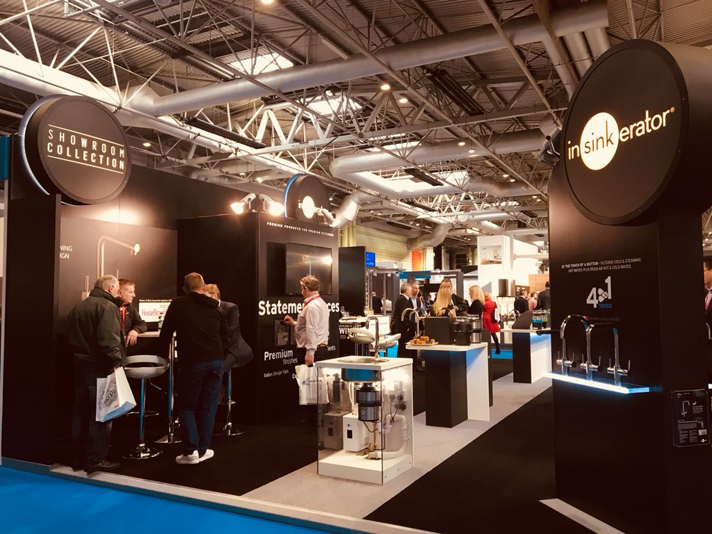 Fabulous stand from our client @InSinkEratorUK at @kbblive. Great exhibition #futurekbb