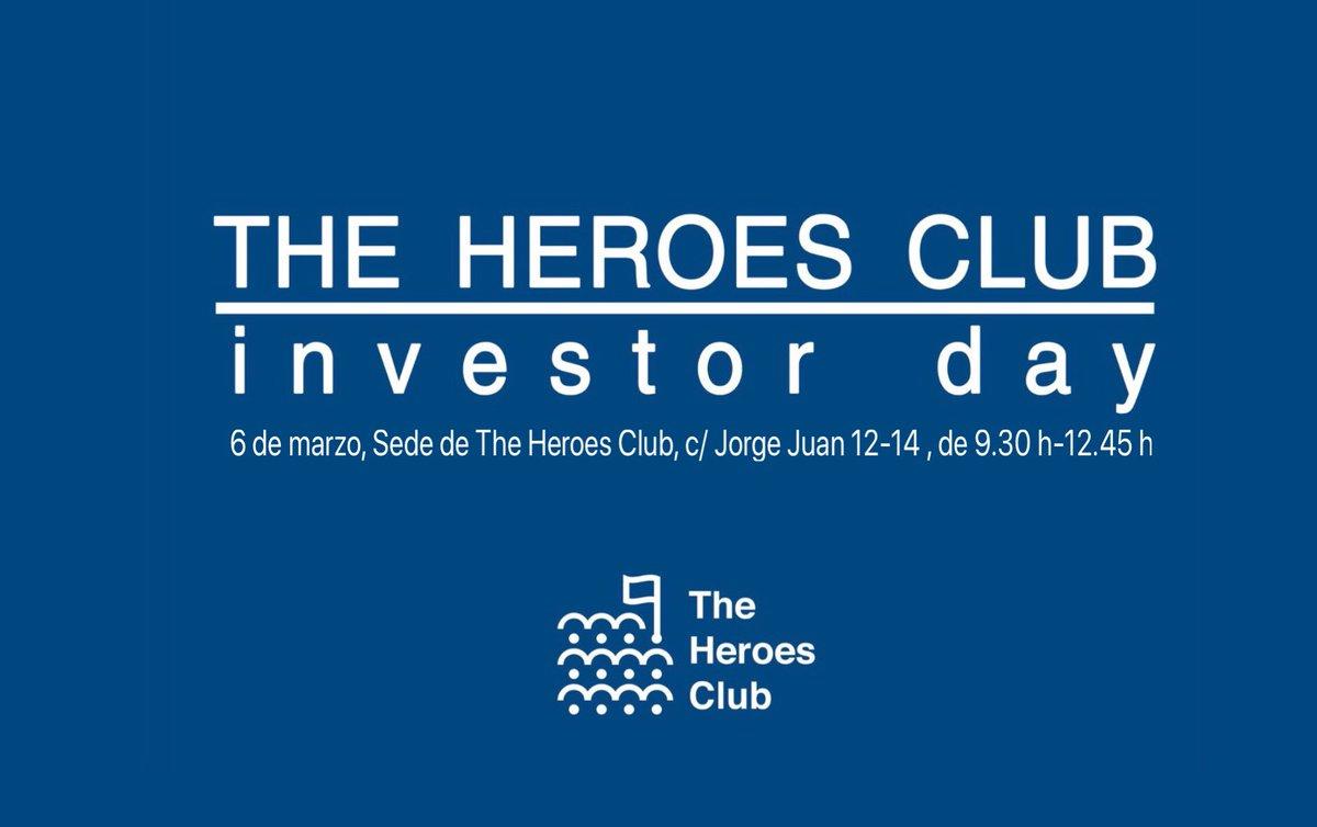 Mañana 6 MARZO, 9:30 h #InvestorDay #SectorBiosanitario en @the_heroes_club; participan #CrowdlnTheCloud @fittingpup @healthsens y @AmadixDx, de la mano con @zarpamos_com https://t.co/s4r409yZXg ; Si deseas invertir en #Salud #eHealth Apúntate: b.l.aranguena@theheroesclub.net https://t.co/tl5dBzeQ6x