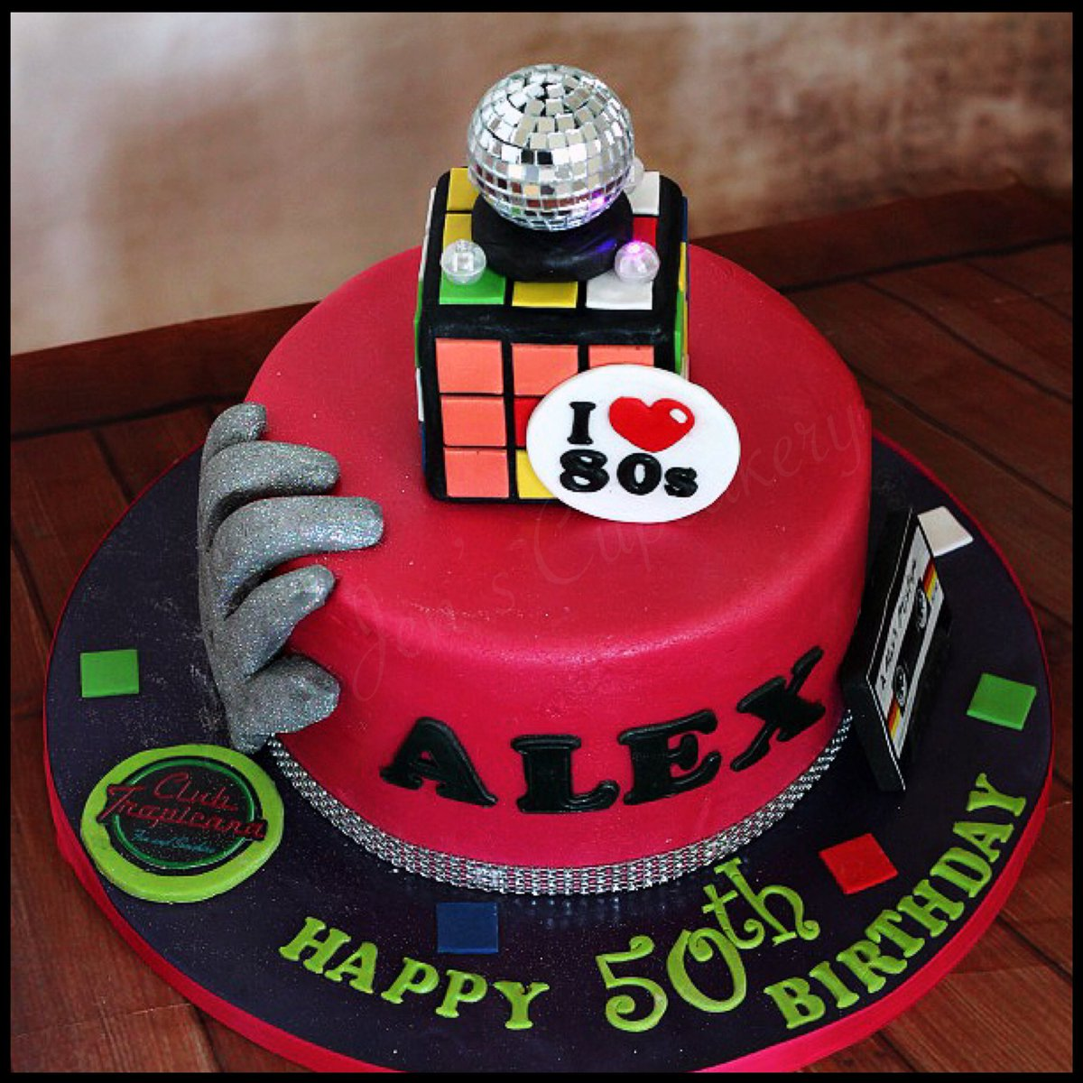 Awesome Jenjenscupcakery On Twitter 80S Themed Birthday Cake 80S Disco Funny Birthday Cards Online Barepcheapnameinfo