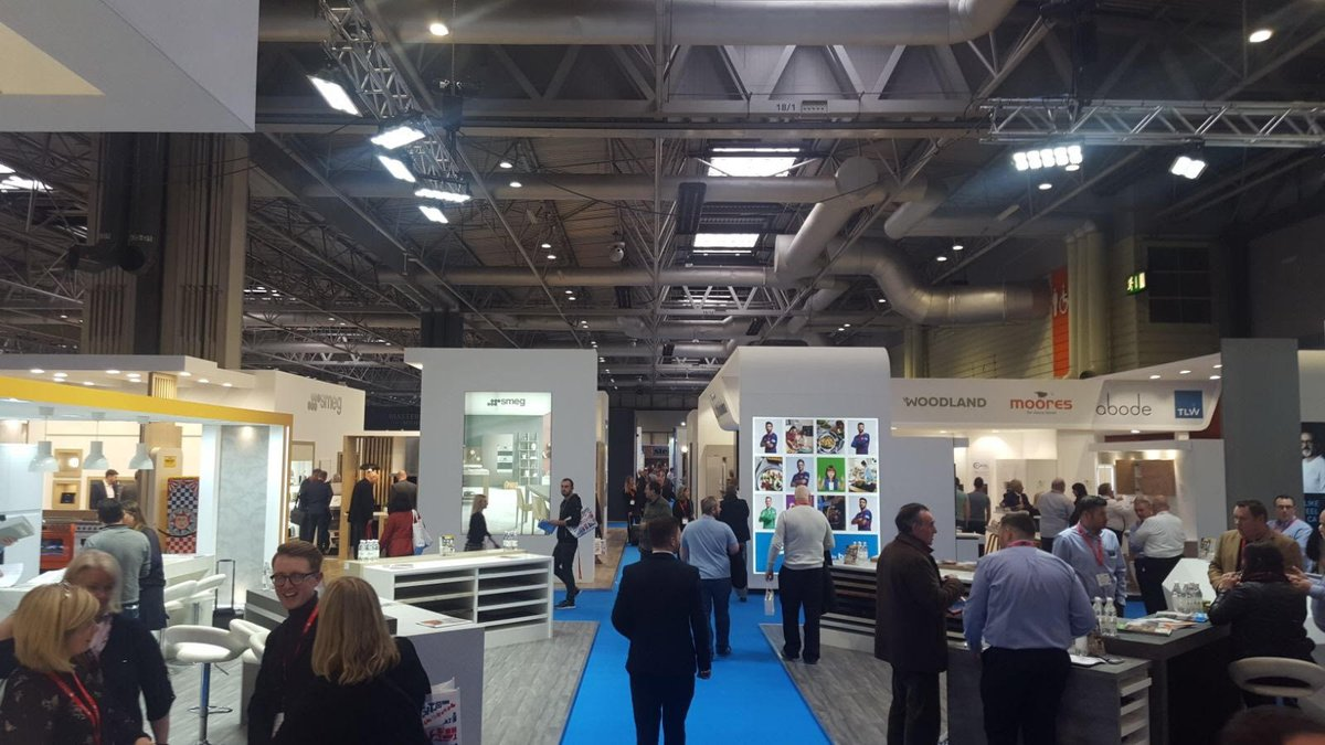 Making our way through @kbblive - heaps of innovation, style and new trends! #futurekbb #kitchendesign