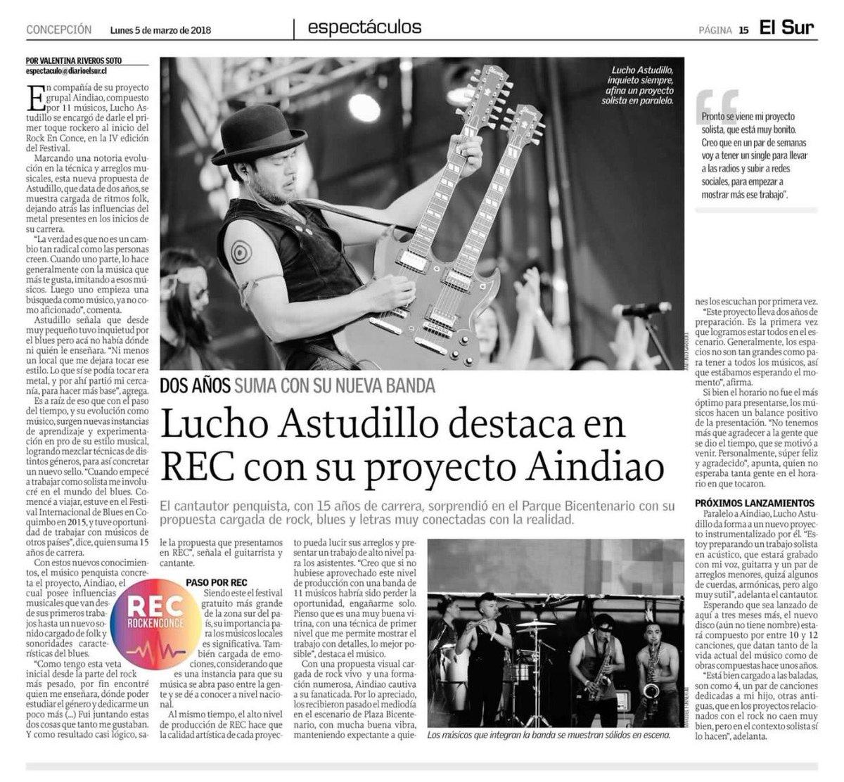Lucho Astudillo destaca en REC con su pr...