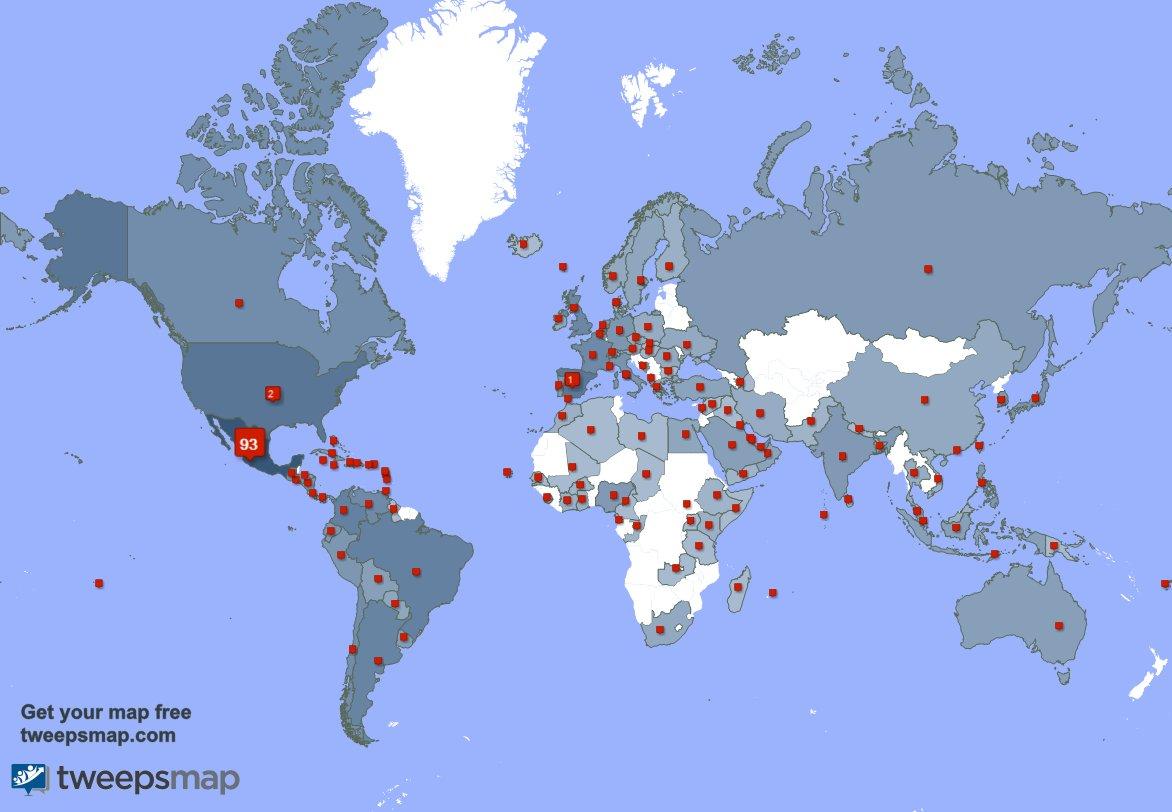 Tengo 1183 nuevos seguidores, desde México, Brasil, España, y más durante la última semana https://t.co/7HGgAVVIMn https://t.co/0ilEf7HrKp