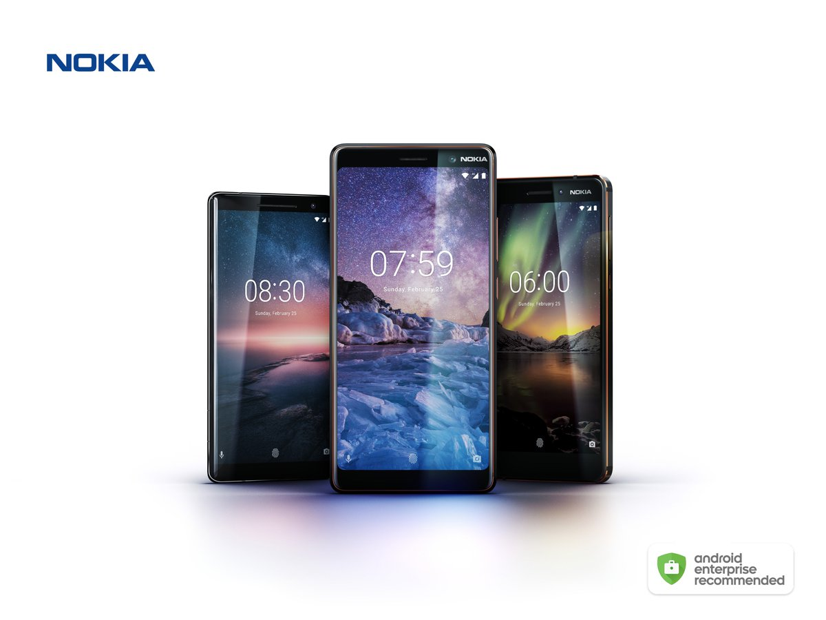 We are excited to announce that in addition to #Nokia8, we have three new smartphones, #Nokia8Sirocco, #Nokia7plus and the new #Nokia6 to be included in the #AndroidEnterprise Recommended program. nokia.com/phones/android…