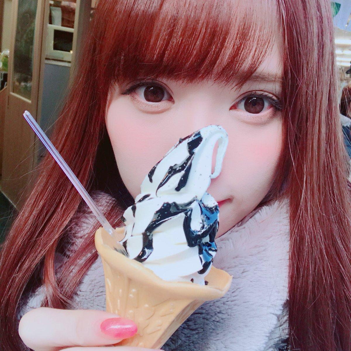 ソフトクリームと河西美紀