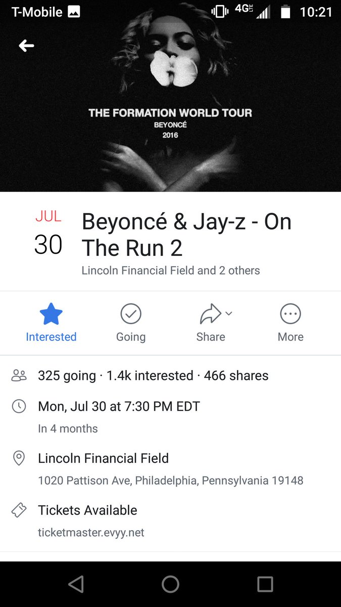 on the run 2 tour dates