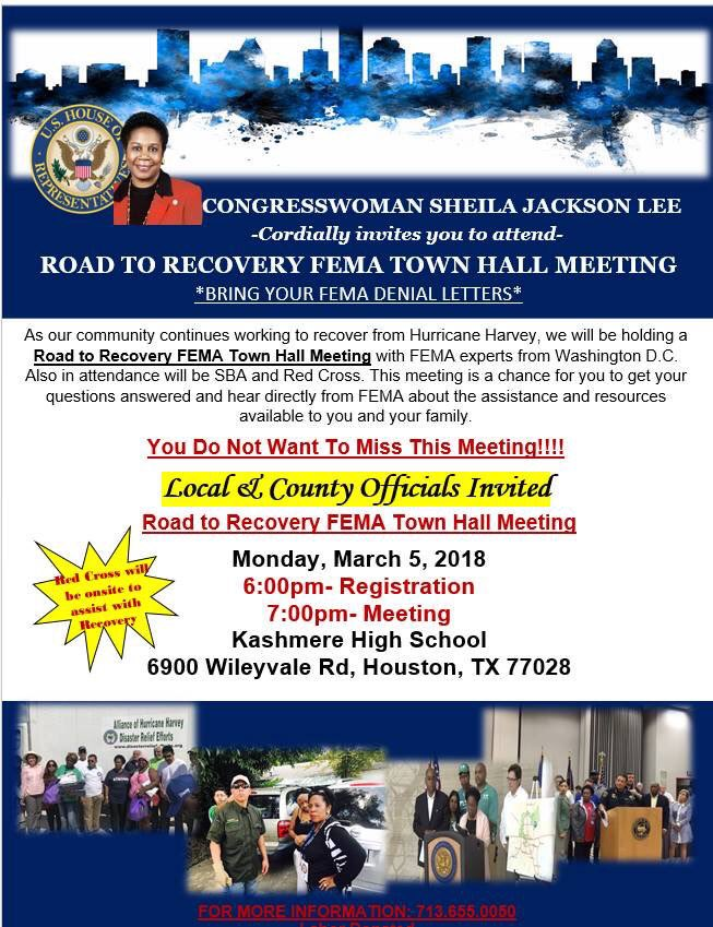 Join us tonight at 6PM at Kashmere High...
