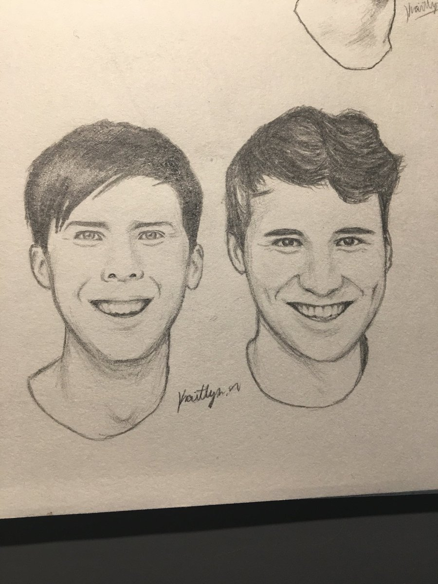 After 2 Hours I Finished This Sketch Daniel And Philip Happy Boyes Tried My Best Danandphil Phan Phanart Danielhowell AmazingPhil