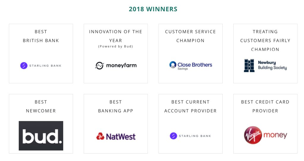 Thanks Again To All Our Customers Who Voted Us Innovator Of The Year At British Bank Awards People Working Hard Behind Scenes