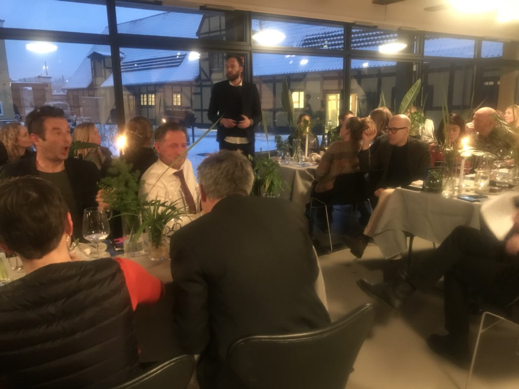 """@AndersLendager in @BLOXHUBdk for symposium on cross-disciplinary innovation: """"I don't want to change the world - I want to save it."""""""