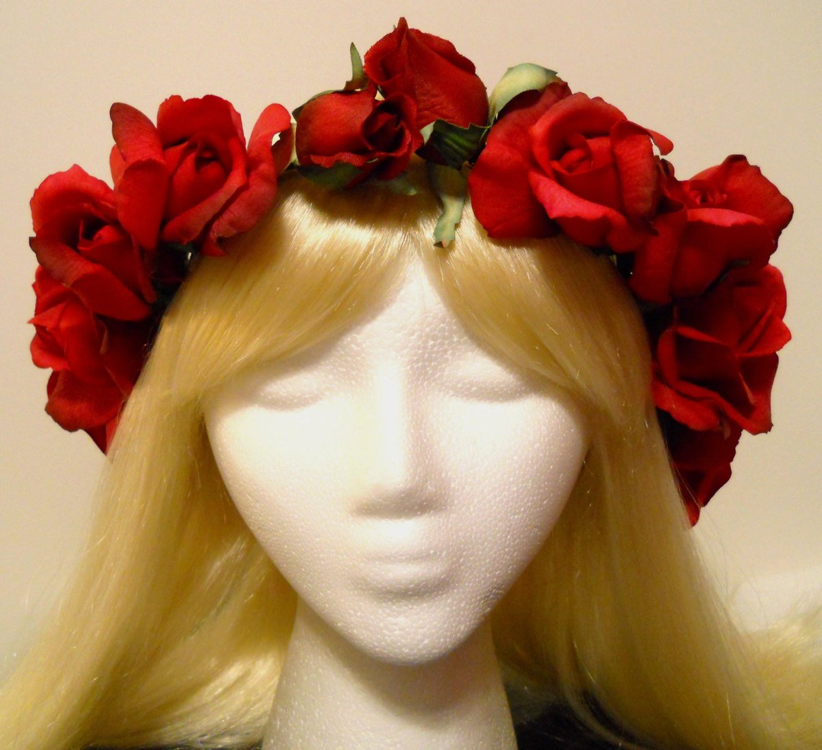 Michele on twitter red flower crown head wreath real touch red michele on twitter red flower crown head wreath real touch red rose roses crown valentines day wedding flower girl bride holiday white ivory tiara izmirmasajfo