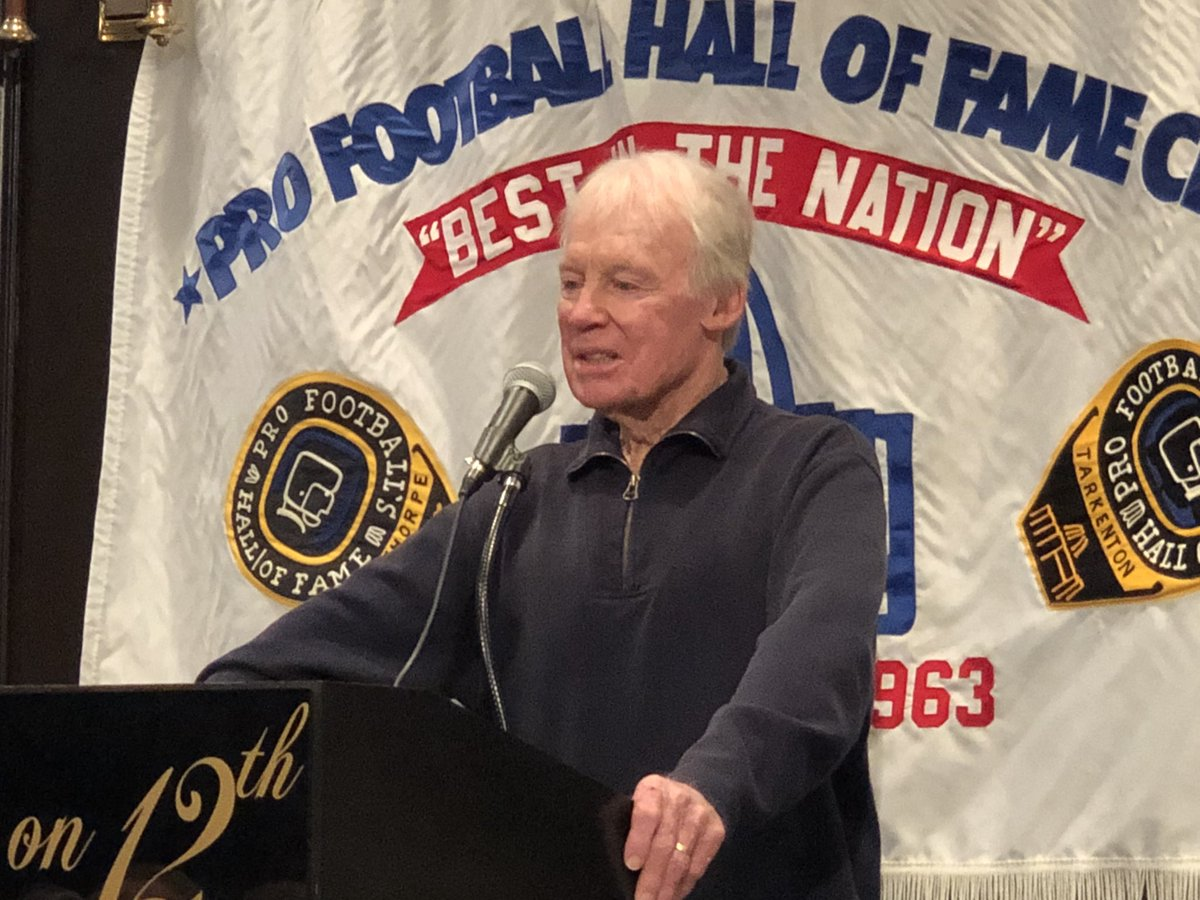 .@JerryKramer64GB & Bobby Beathard spoke at the @profballhoflc this afternoon during their visit in Canton #PFHOF18
