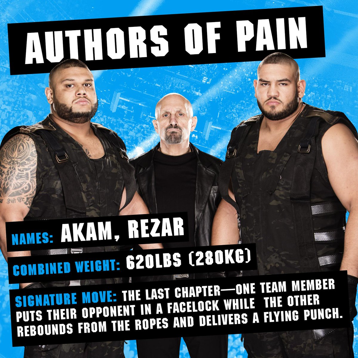 A new chapter in the book of pain. From @WWENXTs brightest to the #WWEHOFs finest, the @WWE Ultimate Superstar Guide has them all!  @Akam_WWE @Rezar_WWE wwe.me/zPY9Ha