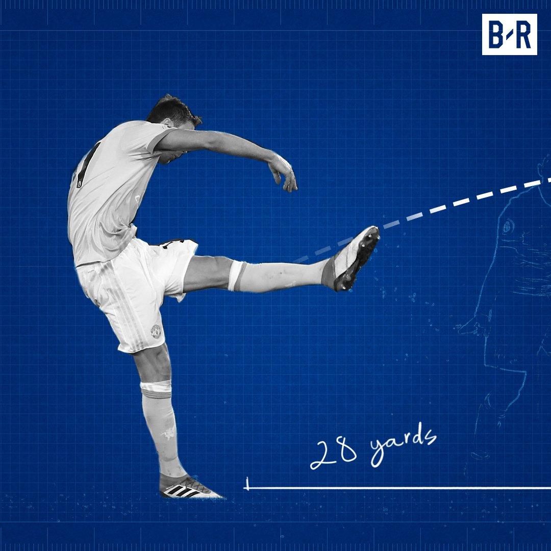 Nemanja Matic scored Manchester Uniteds farthest goal in the Premier League this season ⚡️