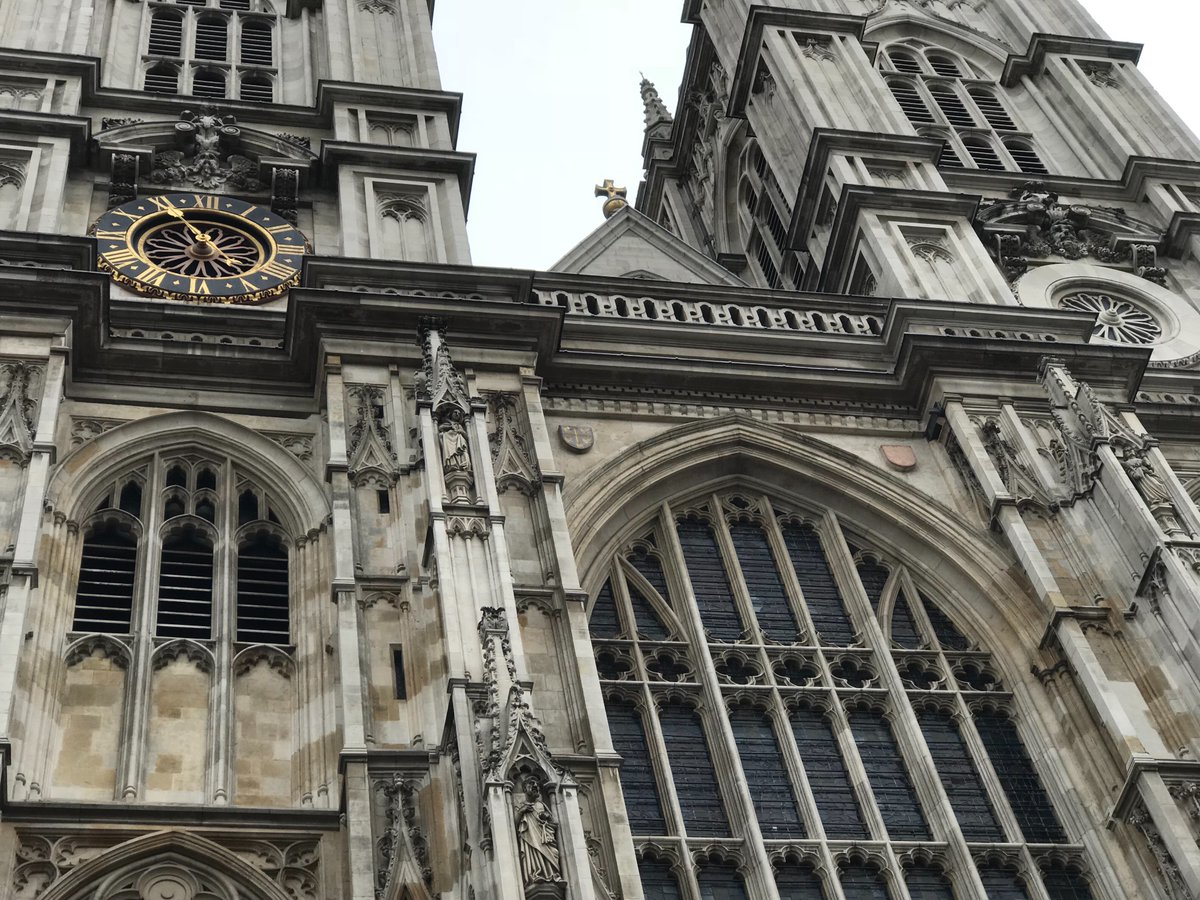 Westminster Abbey, the west wing of Buckingham Palace, & Windsor Castle.