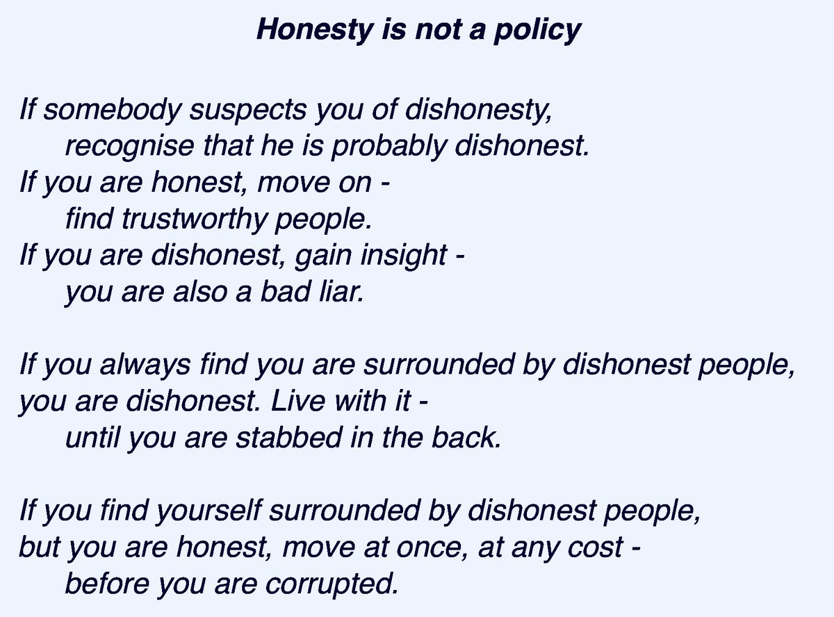 Open Source On Twitter Honesty Is Not A Policy Poem Honesty