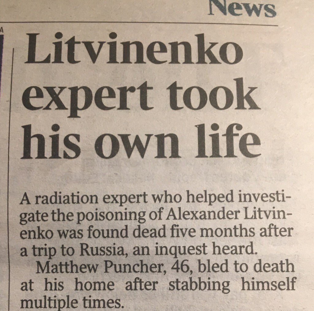 This was my favorite headline from the last time we poisoned a Russian spy in the the UK.
