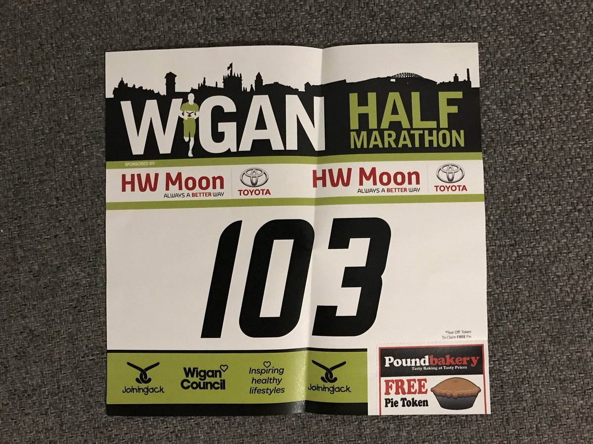 I got my race number for @Wiganhalf today & it's back to where it all begin for me as @Wigan10K in 2017 was my 1st ever race!Now I'm looking forward to my 1st ever half!Even got room ready on my medal hanger. #ChallengeYourself #SeeYouOnTheStartLine  #IMOAC 💚🏃‍♂️ @RMCHcharity