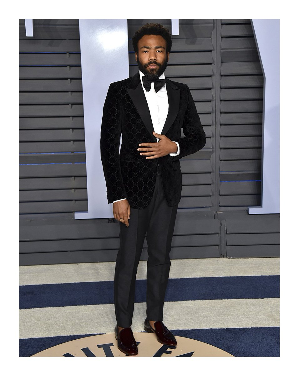 04e673e16 donaldglover wore a custom #Gucci GG velvet grosgrain New Marseille tuxedo  jacket, tuxedo trousers with grosgrain trim side detail, pique evening  shirt with ...