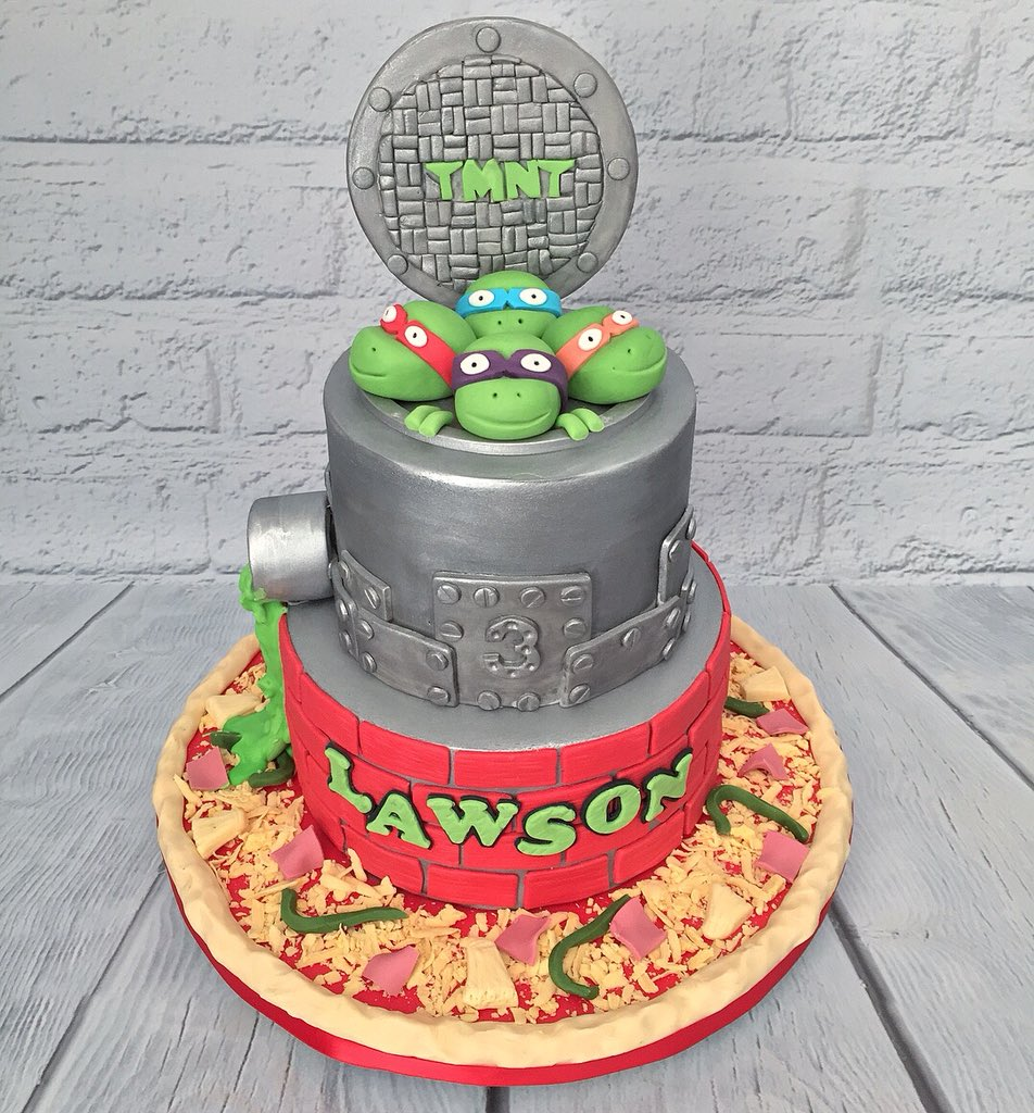 Groovy Marias Cake Boutique On Twitter Tmnt Birthday Cake Funny Birthday Cards Online Ioscodamsfinfo