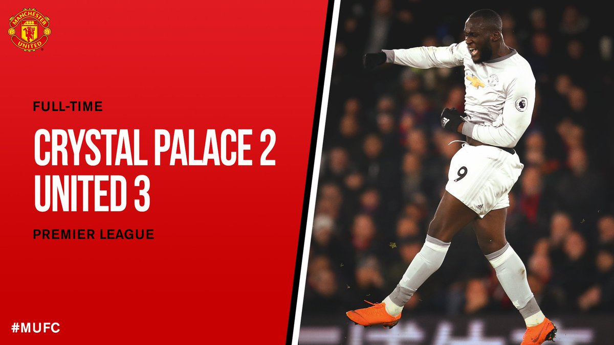 FT: Crystal Palace 2 #MUFC 3.  United come from two goals down to turn things around at Selhurst Park in the most dramatic fashion, with a stoppage-time strike from Matic sealing three vital points! #CRYMUN