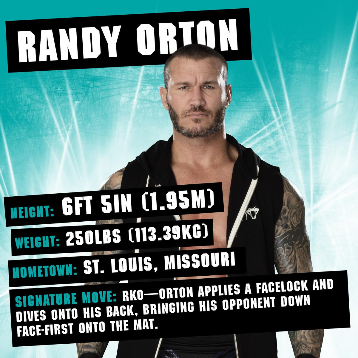 Think you know #TheViper? Slither to your nearest bookstore for bios, facts and stats... @RandyOrton bit.ly/2FfzOPx