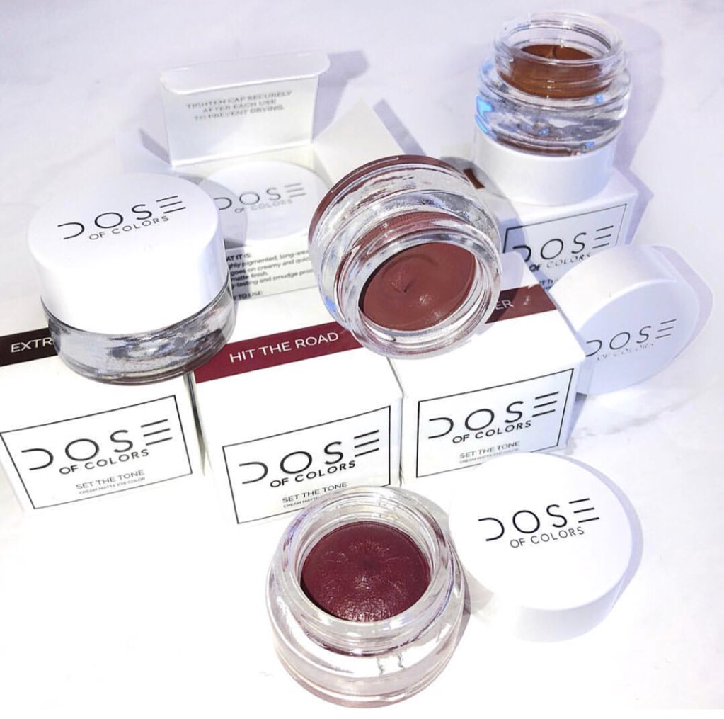 NEW!  PRODUCT! By @Doseofcolors  #SetTheTone - Matte Cream Eyeliner  in 10 shades #ComingSoon  end of this Month. Also look who's coming BACK TOMORROW @ 10am PST  (on their website) From #Holidays2017 Collection! #LiquidLipstick individually<br>http://pic.twitter.com/z1kgIL3qug