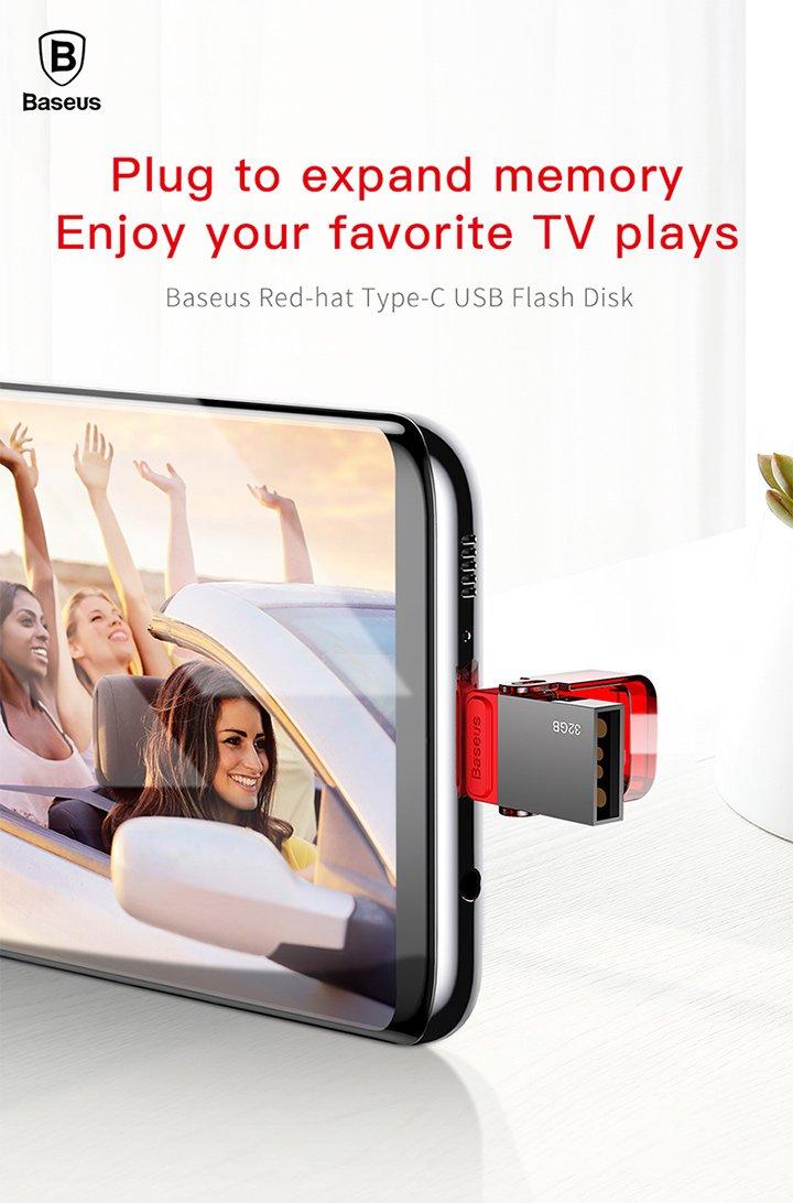 Baseus Red-hat Type-C USB Flash Disk https://t.co/dErBsTnNTB