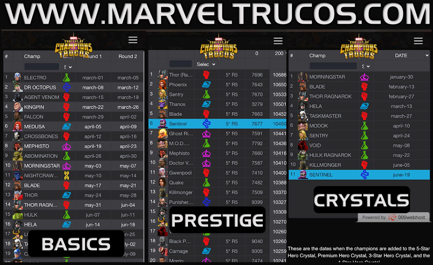 Marveltrucos On Twitter Marvel Trucos Website Is Back New Link Https T Co Grft5b7f5m Basic Calendar Https T Co C4t8mvadvf Top Prestige 5 Https T Co Cg2dlztyjy Help Us Maintain The Site And Keep It Running By Making A Donation Https T