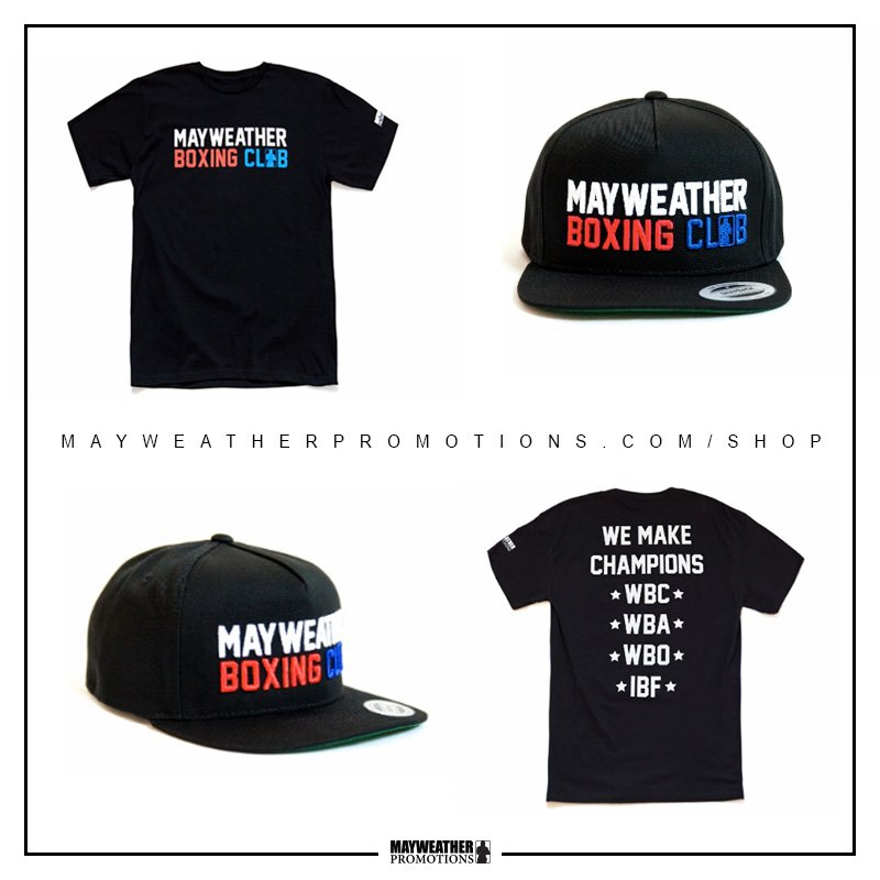 test Twitter Media - Our exclusive #MayweatherBoxingClub and #MayweatherPromotions gear is back in stock! Available now ONLY at https://t.co/Qb8YIjOty3 https://t.co/UvLkloEnGc