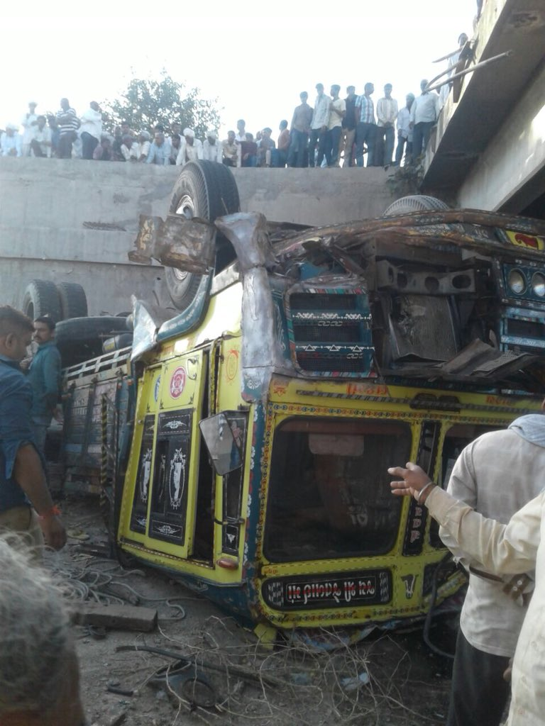 30 dead as truck falls from bridge, overturns near ...