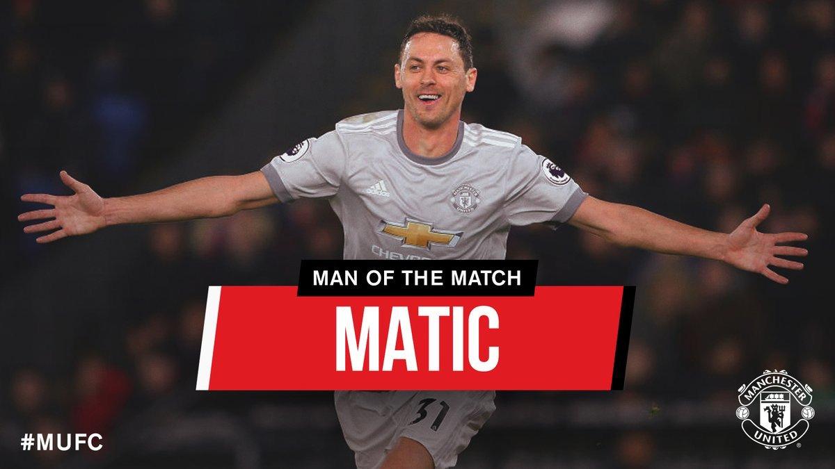 Nemanja Matic don win #MUFC Man Of the Match. Hin Fergie-Time winner na die 🔥 #MUIP