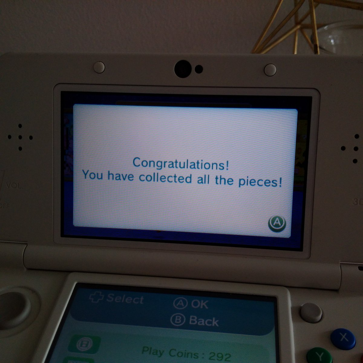 I've now collected all the Puzzle Pieces (once again)!! My total is 1712. Is this all there is? :D #PuzzleSwap #3DS